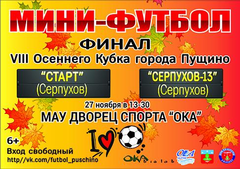 Финал 8 Осеннего Кубка города Пущино по мини-футболу